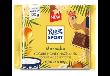 Šokoladas RITTER SPORT TASTE OF WORLD su jogurtu ir rieš., 100 g