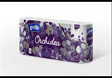 Tualetinis popierius GRITE ORCHIDEA (3 sluoksnių), 8 vnt.