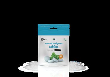 Dantų valymo tabletės HUMBLE su fluoru (mėtų kv., 60 vnt.), 1 vnt.