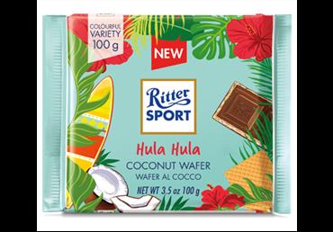 Šokoladas RITTER SPORT TASTE OF WORLD su kokos. ir vafliu, 100 g