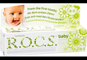 Kūdikių dantų pasta R.O.C.S. CAMOMILE, 45 g