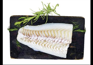 Atšildyta atlantinių menkių filė (lot.Gadus morhua) su oda, 1 kg