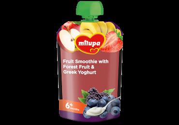 Vaisių tyrelė MILUPA su miško uogomis ir jogurtu, nuo 6 mėn., 100 g