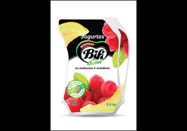 Jogurtas BIFI ACTIVE su avietėmis ir melionais, 2 % rieb., 900 g