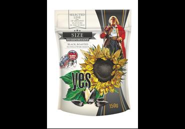 Juodos kepintos saulėgrąžų sėklos Y.E.S. PREMIUM, 150 g