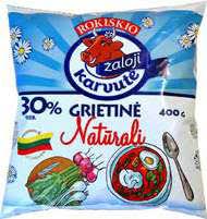 Grietinė ŽALOJI KARVUTĖ, 30% rieb., 400 g