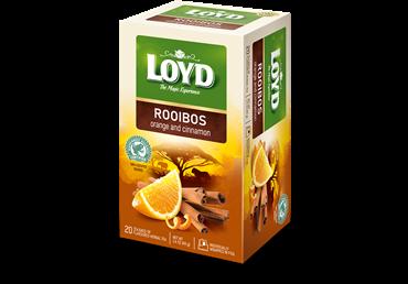Raudonoji arbata LOYD su apelsinais ir cinamonu, 40 g