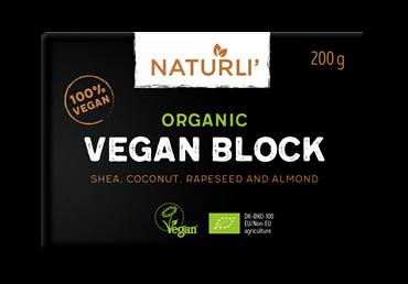 Ekologiški tepieji riebalai NATURLI VEGAN bLOCK, 200 g