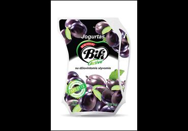Jogurtas BIFI ACTIVE su džiovintomis slyvomis, 2 % rieb., 900 g