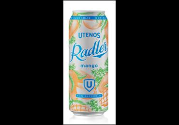 UTENOS nealkoholinis alaus kokteilis RADLER MANGO (0,5%), 500 ml